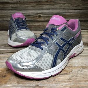 Asics Gel-Contend 4 Gray Athletic Shoes Women 8.5